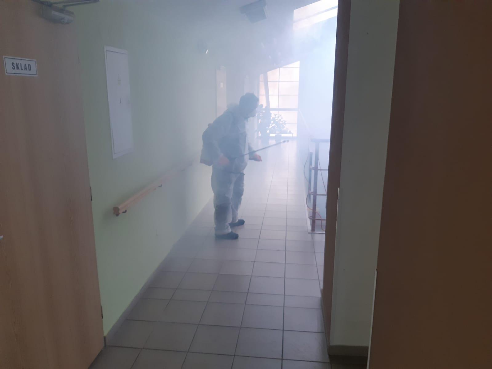 Dezinfekce prostoru domu s pečovatelskou službou město Stod