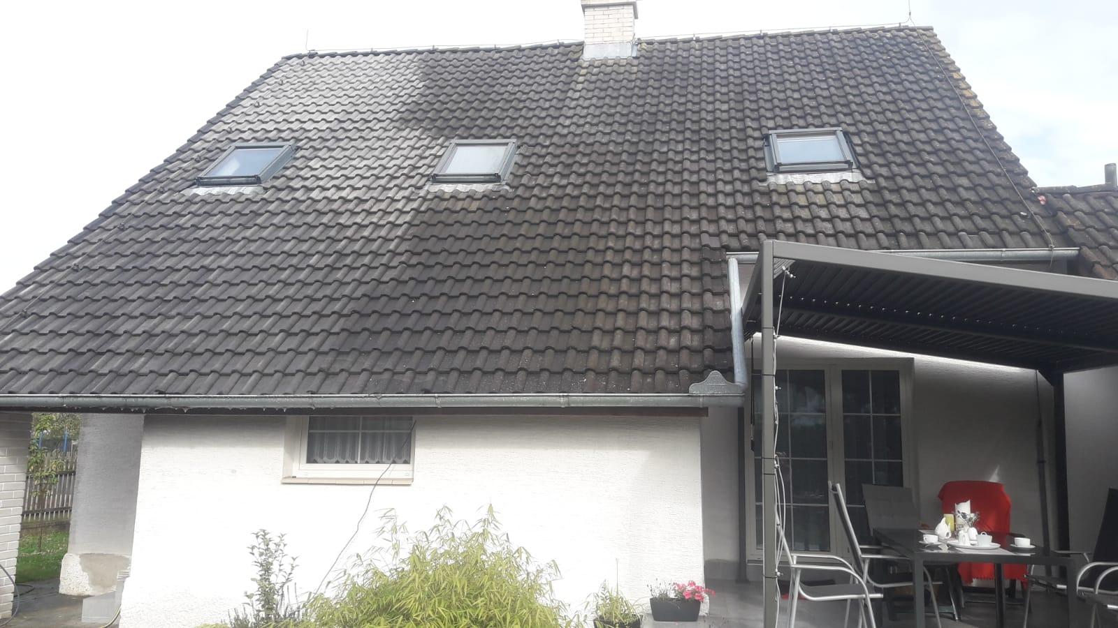Mytí střechy a čištění fasády